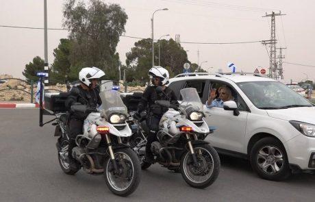 מאחוריך! אופנועי משטרה יאכפו מהירות באמצעות 'דבורה'
